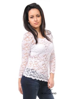 Дамска блуза дълъг ръкав дантела - EIGHT2NINE