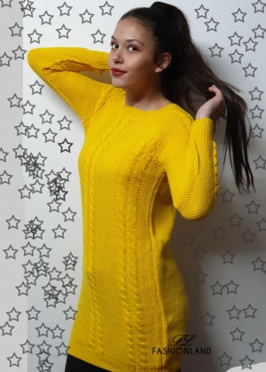 Дамски пуловер-блузон