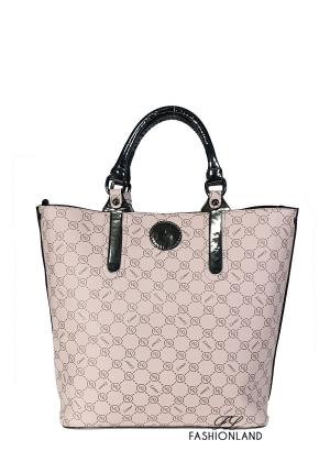 Дамска чанта с пискюл